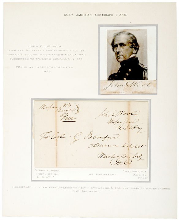 4010: Union General JOHN E. WOOL Signed Letter