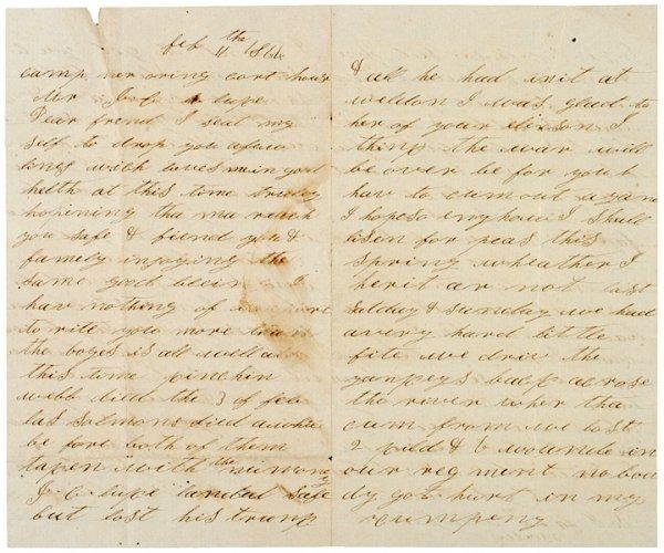 4014: Letter: 1864, Civil War, Confederate: Georgia