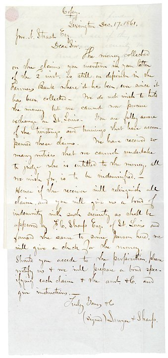 4016: Civil War Letter: Missouri Raider Attack, 1861