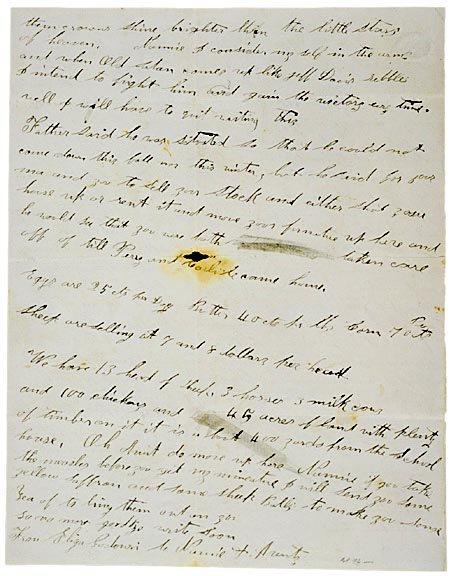 4020: Union Woman 1865 Civil War Letter