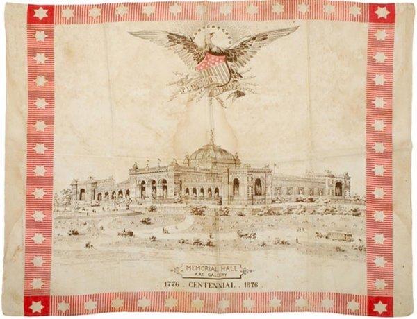 4183: 1876 Centennial Exposition Memorial Hall Linen
