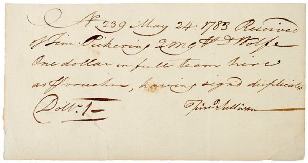 5010: General TIMOTHY PICKERING Signed War Document