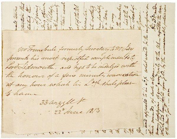 5015: Painter, JOHN TRUMBULL, Autograph Letter Signed