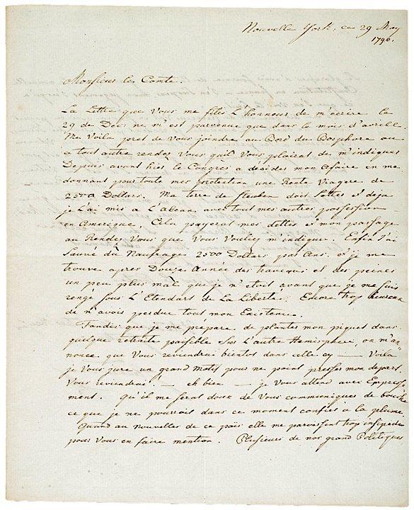 5017: BARON FRIEDRICH VON STEUBEN, Autograph Letter