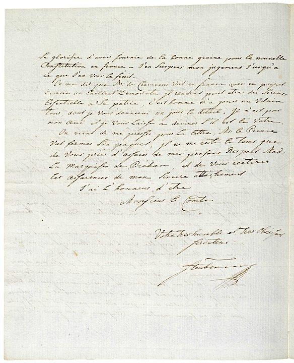 5017: BARON FRIEDRICH VON STEUBEN, Autograph Letter - 2