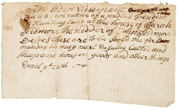5021: 1740 Dated Colonial American Estate Documents