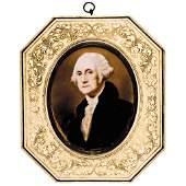 George Washington Portrait Painted Miniature