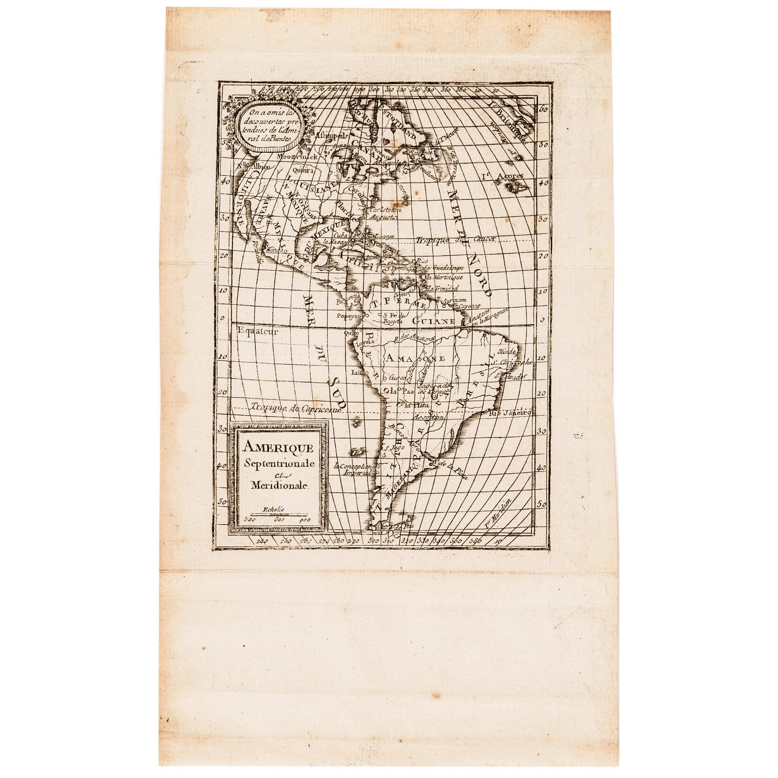 1765 Atlas Map of North + South AMERICA, Expilly