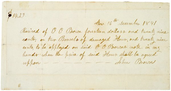 3004: Autograph Document Signed, JOHN BROWN, 1841