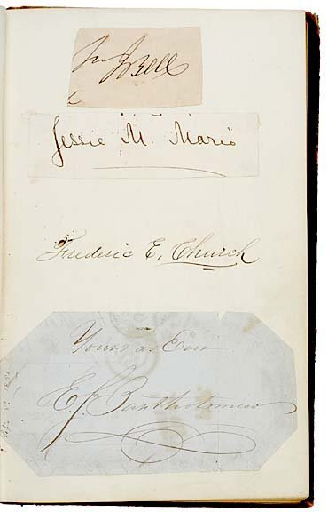3010: FREDERICK E. CHURCH, Signed Autograph Album