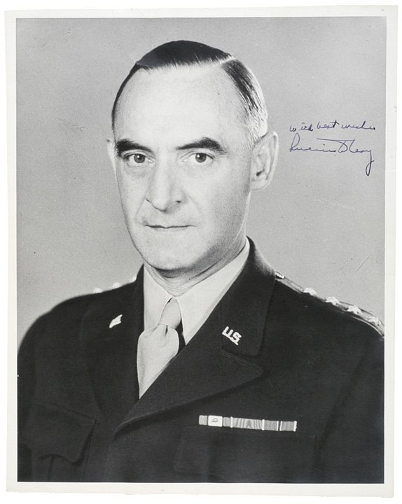3013: Photo Signed General LUCIUS CLAY