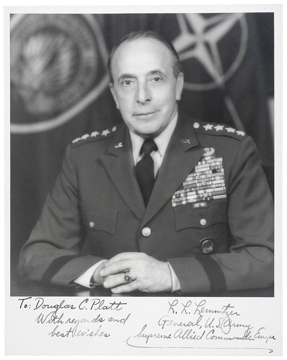3019: Photo Signed General Lyman L. LEMNITZER
