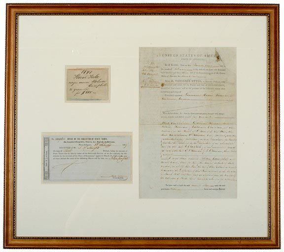 3071: Three Slavery Sale Documents, 1847