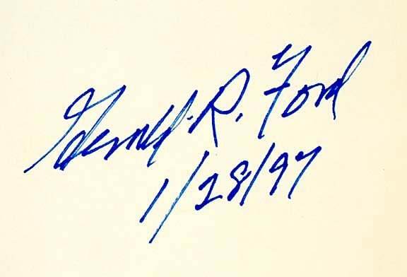 4005: GERALD R. FORD Signed Warren Commission Report