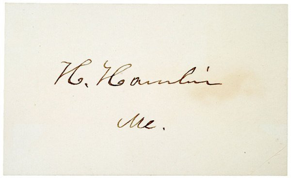 4006: HANNIBAL HAMLIN Presentation Signature