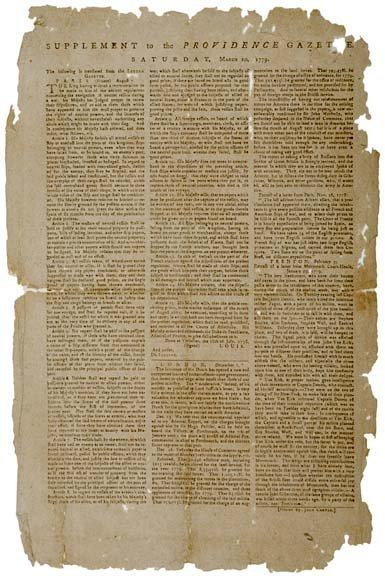 4014: 1779, Broadside: News of the Treaty in France