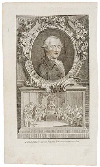 4016: 1780 Engraving of Henry Laurens