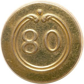 4017: Revolutionary War 80th Regiment French Button