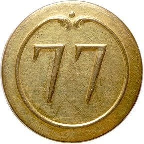 4018: c. 1780, French 77 Regiment, Military Coat Button