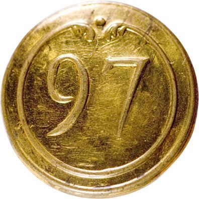 4019: French 97th Regiment Revolutionary War Button