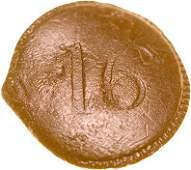 4021: Revolutionary War British 16th Reg.Uniform Button