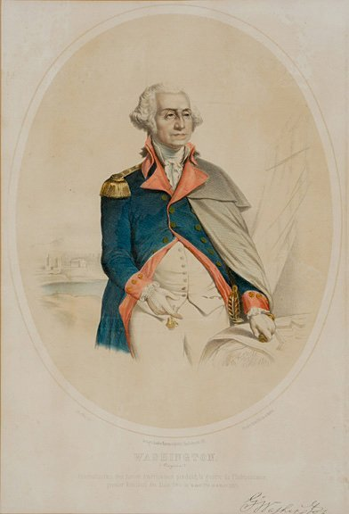 4025: c. 1850 WASHINGTON Lithograph