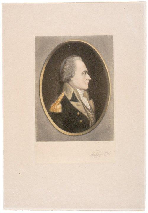 5002: Alexander Hamilton Litho, Signed MAX ROSENTHAL