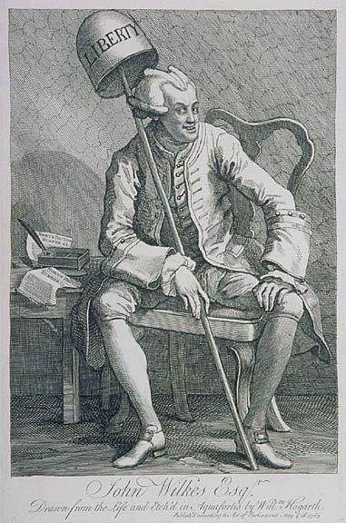 5007: JOHN WILKES, Etching by William Hogarth