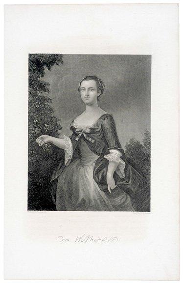 5011: Steel Engraving: Martha Washington by J.C. Buttre