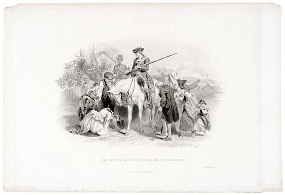 5012: WINCHESTER APPEALING TO WASHINGTON, c. 1850 Print