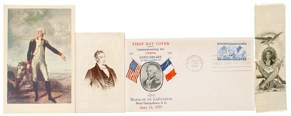 5018: Four Lafayette Commemorative Items, c. 1824