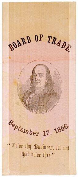 5021: Benjamin Franklin Commemorative Ribbon, c. 1856