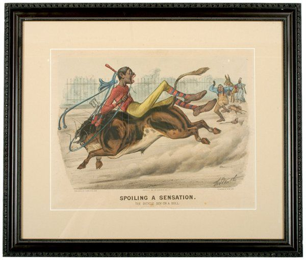5050: 1881, Currier + Ives Print, The Bicycle Boy