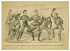 5123 Civil War Lithograph Jefferson Davis Cameron