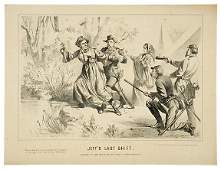 5124 1865 Civil War Lithograph JEFFS LAST SHIFT