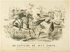 5127 Lithograph 1865 The Capture of Jeff Davis