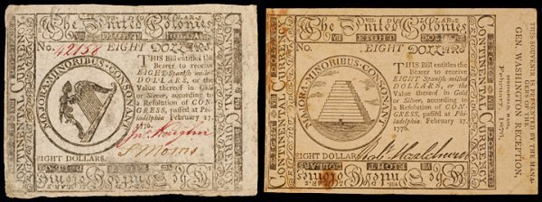 24: Continental Currency, 2-17-1776 Third Issue Notes