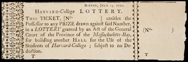 317: Six Different Harvard College Lottery Tickets