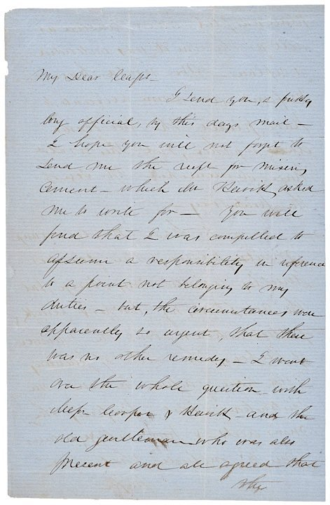 2002: ROBERT ANDERSON, Signed Letter (1856)
