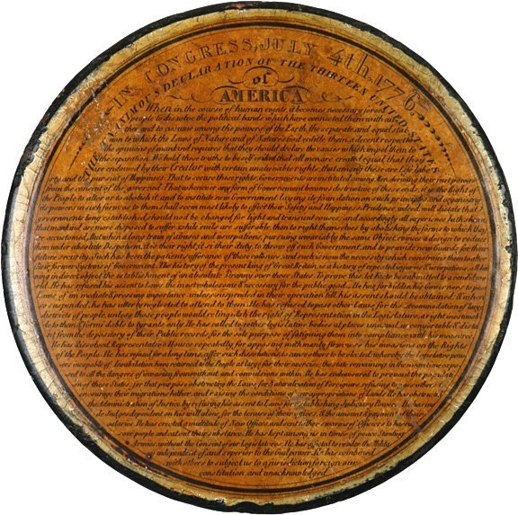 2017: Snuff Box with the Declaration of Independence