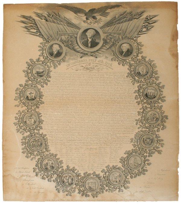 2018: Rare 1819 Printing Declaration of Independence