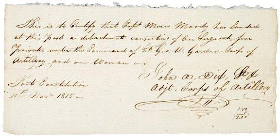 2021: JOHN ADAMS DIX, 1815 Signed Document