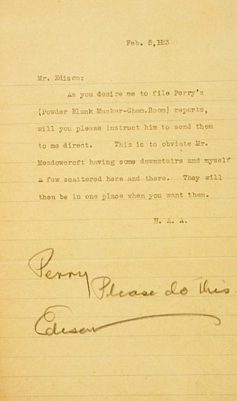2022: THOMAS A. EDISON Signed Letters