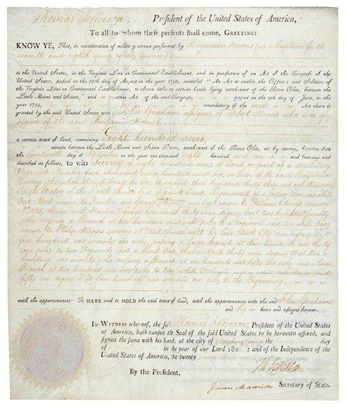 2064: Jefferson + Madison Signatures 1803