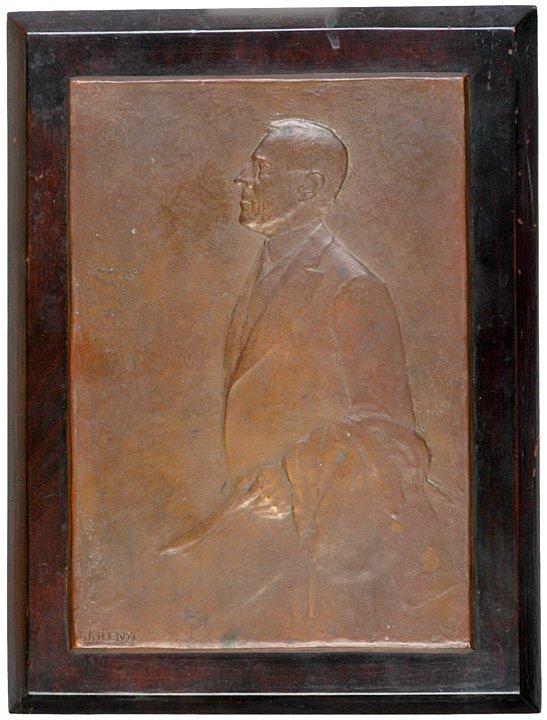 2144: WOODROW WILSON Portrait Plaque by JULIO KILENYI