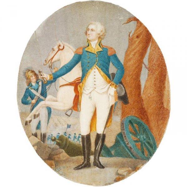 2214: GEORGE WASHINGTON MINIATURE PAINTING