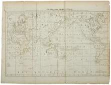 2730 Captain Cooks Map of the World c 1784