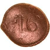 1781 British Military Uniform Cuff Button Pewter
