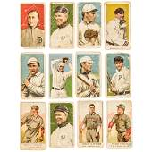 12 Original Tobacco/Candy Baseball Cards Ty Cobb!
