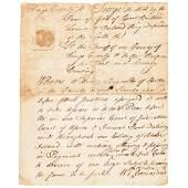 1770 STEPHEN HOPKINS Manuscript Document Signed